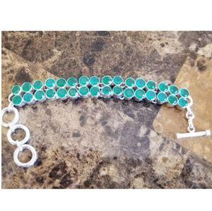 "Jewelry - Gorgeous Natural Emerald Bracelet 8.5"""